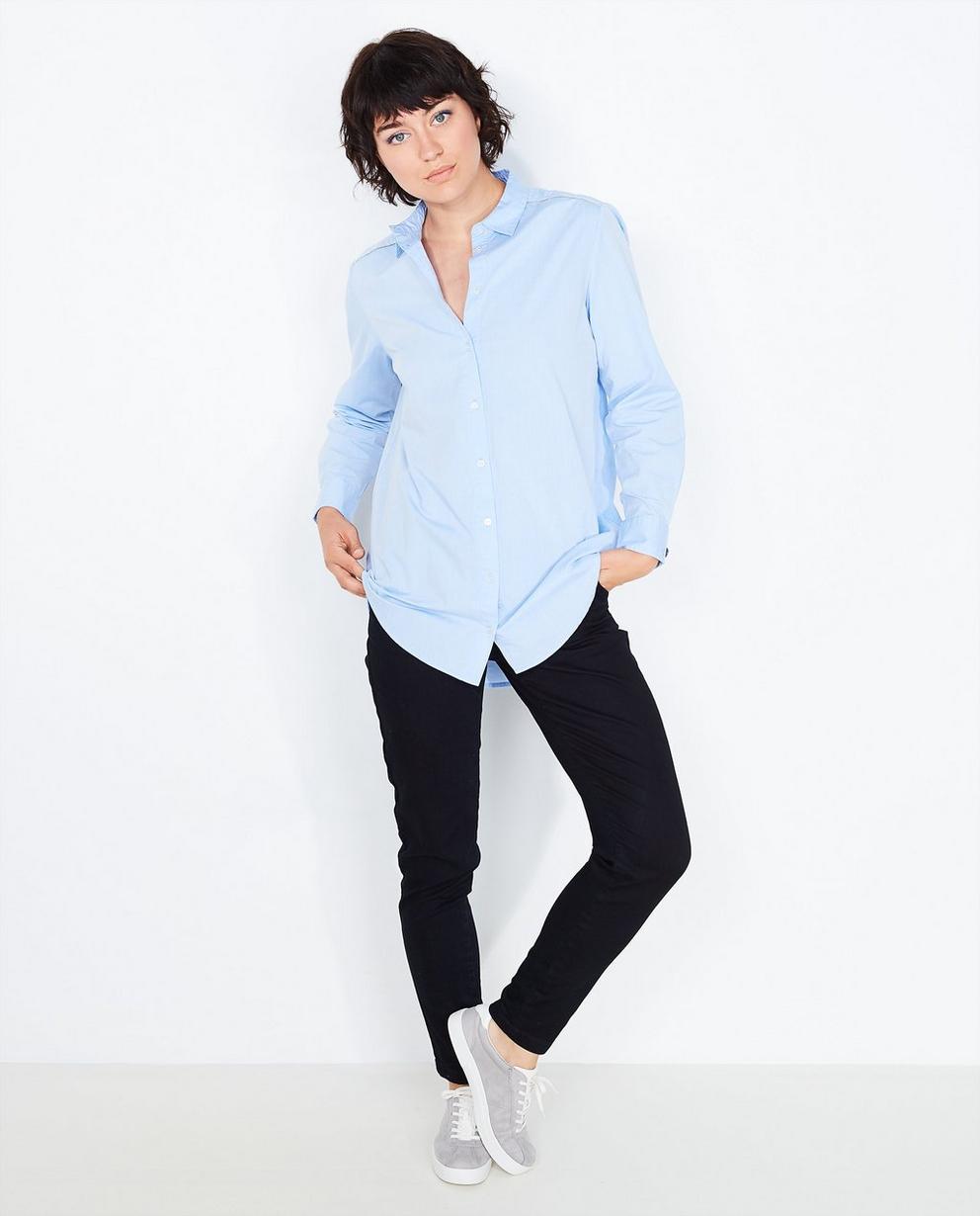 Chemise bleu clair  - avec des biais à paillettes - Sora